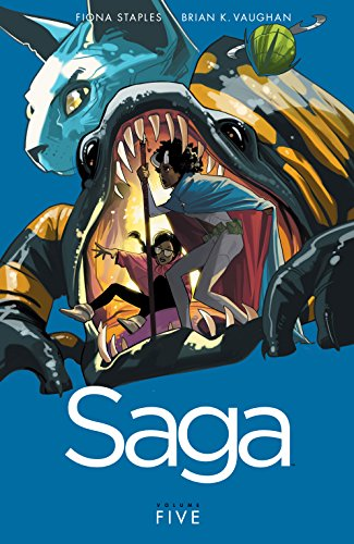 Saga Vol. 5 by Brian K. Vaughan & Fiona Staples | books, reading, book covers