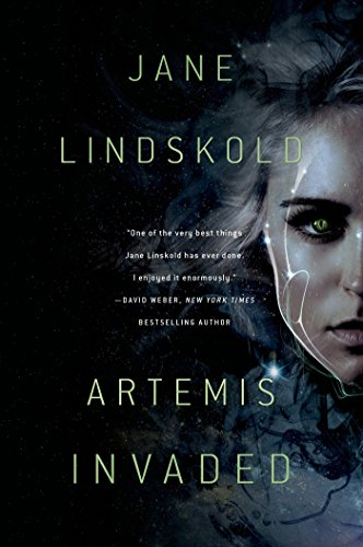 Artemis Invaded by Jane Lindskold | reading, books, book covers, cover love, faces