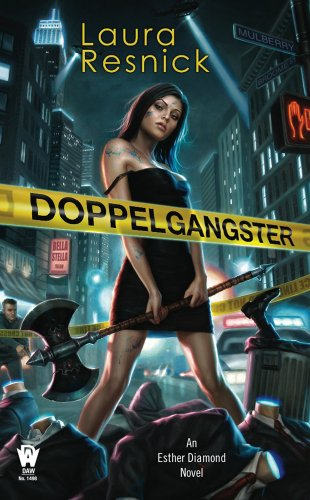 Doppelgangster by Laura Resnick   reading, books