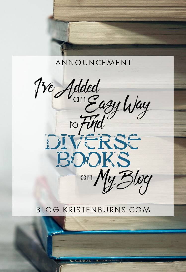 Announcement: I've Added an Easy Way to Find Diverse Books on My Blog