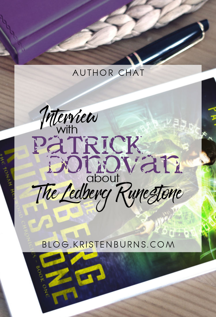 Author Chat: Interview with Patrick Donovan about The Ledberg Runestone | reading, books, author interview, urban fantasy