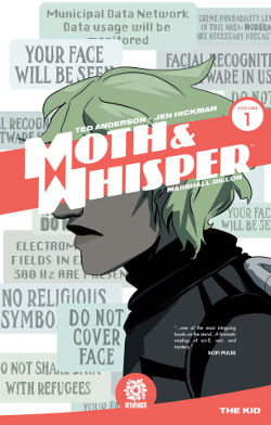 Graphic Novel Review: Moth & Whisper Vol. 1 by Ted Anderson & Jen Hickman | books, reading, science fiction, cyberpunk, lgbt+, genderqueer