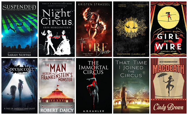Book Covers featuring Circus | books, reading, book covers, cover love, circus