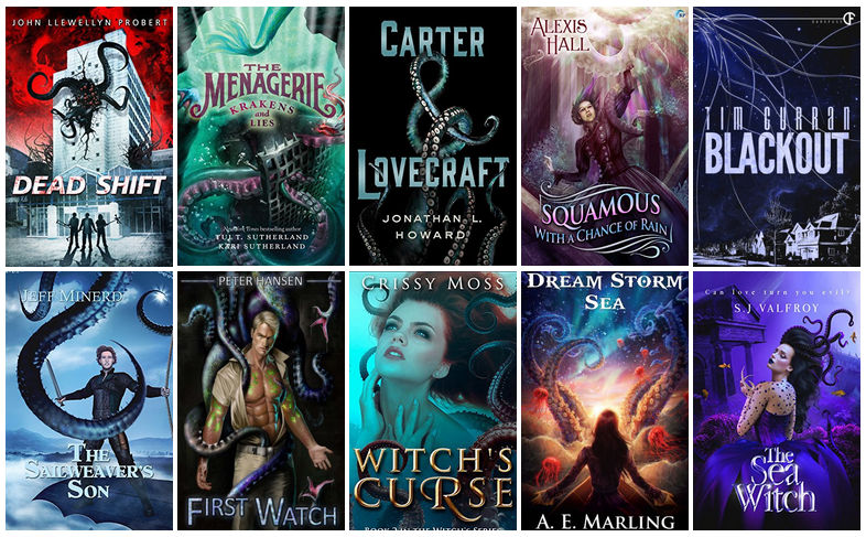 Book Covers featuring Tentacles | reading, books, book covers, cover love, tentacles