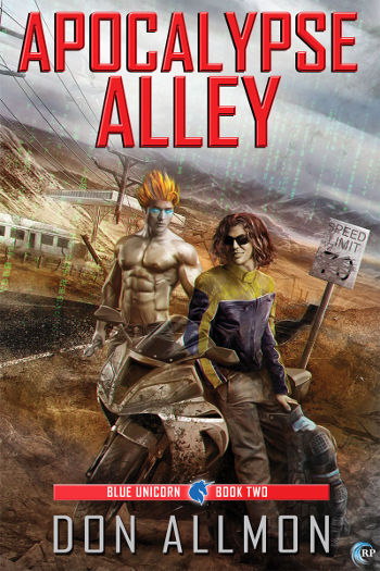 Book Review: Apocalypse Alley (Blue Unicorn Book 2) by Don Allmon | reading, books, book reviews, paranormal/urban fantasy, cyberpunk, lgbt