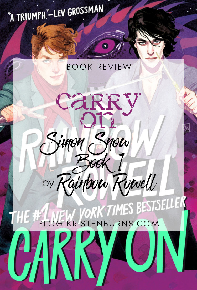 Book Review : Carry On (Simon Snow Book 1) by Rainbow Rowell | reading, books, book review, paranormal/urban fantasy, young adult, lgbt+