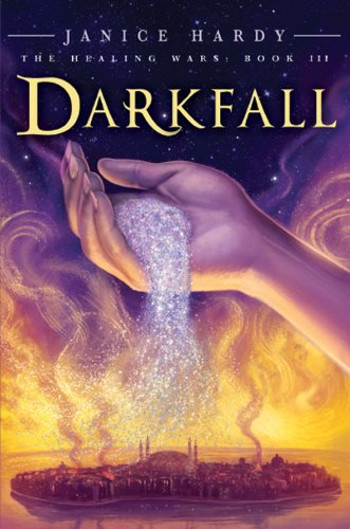 Book Review: Darkfall (The Healing Wars Book 3) by Janice Hardy | reading, books, book reviews, fantasy, high fantasy, middle grade