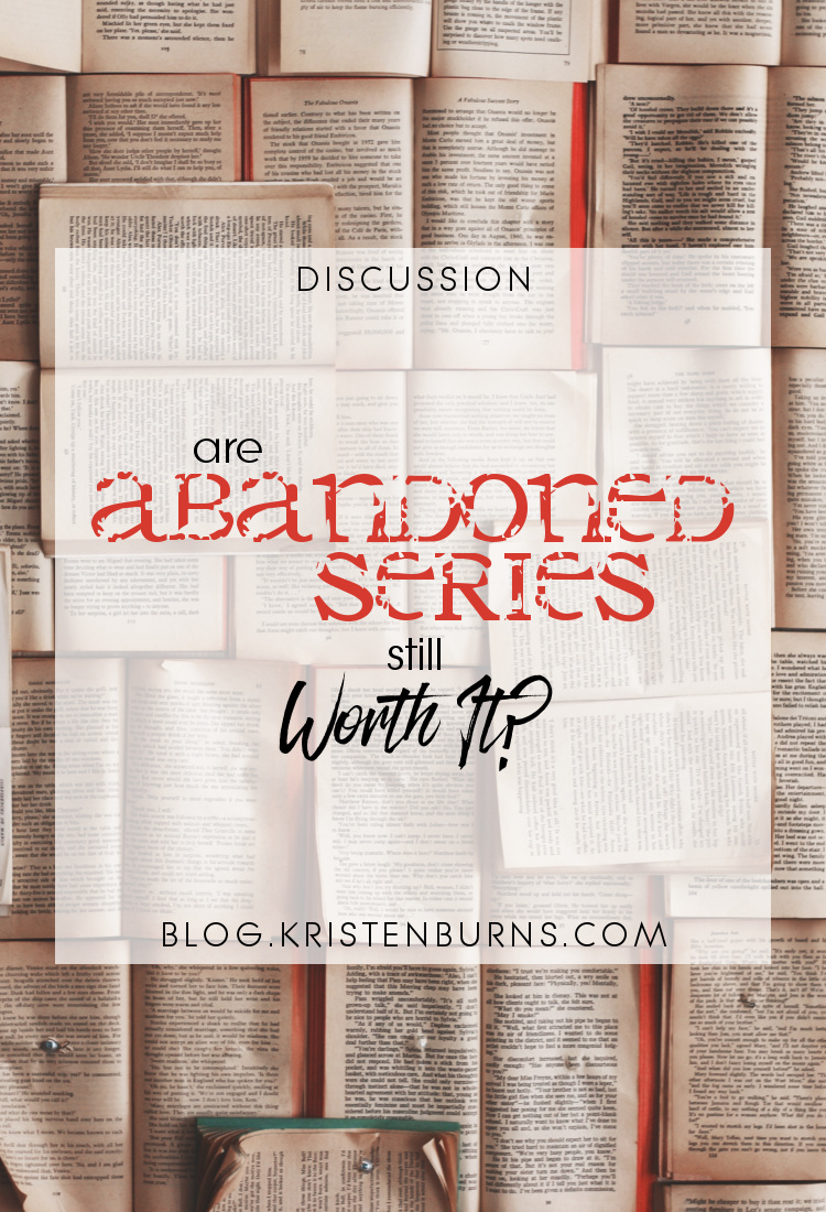 Discussion: Are Abandoned Series Still Worth It?   reading, books, discussions, series