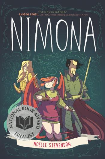 Graphic Novel Review: Nimona by Noelle Stevenson | reading, books, book review, fantasy, lgbt+