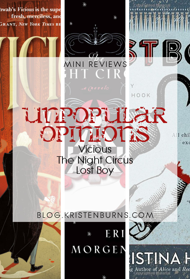 Mini Reviews: Unpopular Opinions - Vicious, The Night Circus, Lost Boy