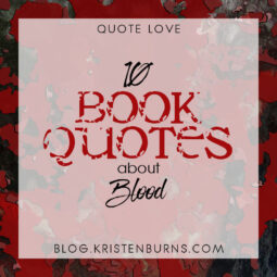 Bookish Musings: 10 Book Quotes about Blood