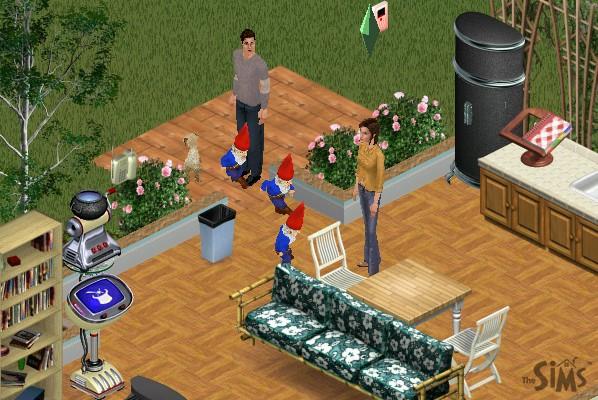 three gnomes stomping into Suzie's house