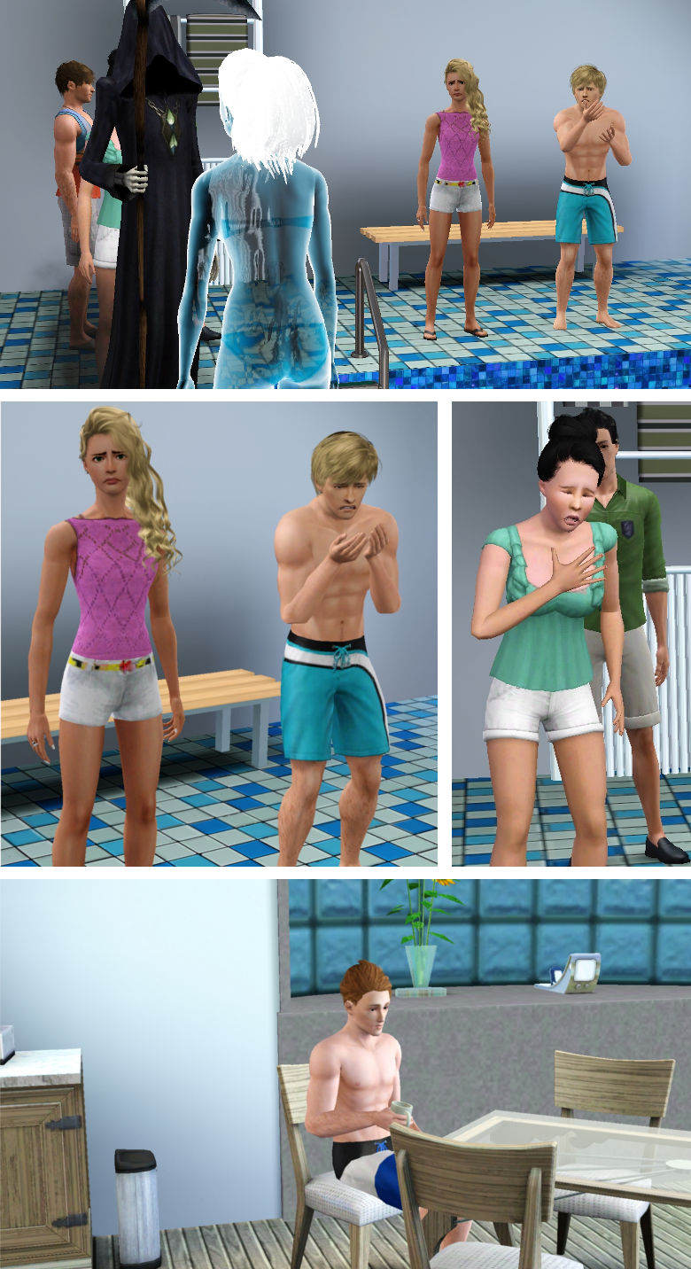 Sims Mourning Over Fellow Sim's Death