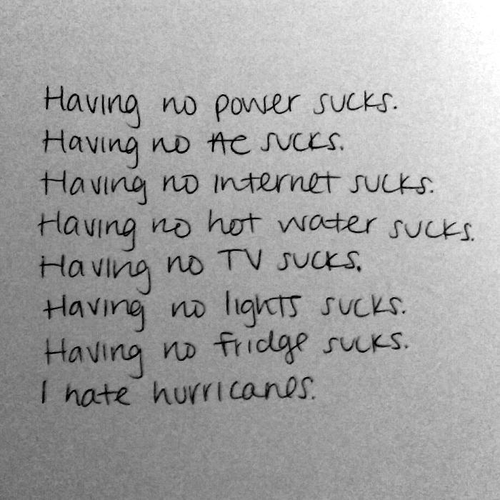 The Hurricane Poems (1)
