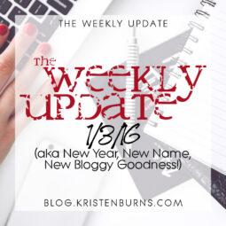 The Weekly Update: 1/3/16 (aka New Year, New Name, New Bloggy Goodness!)