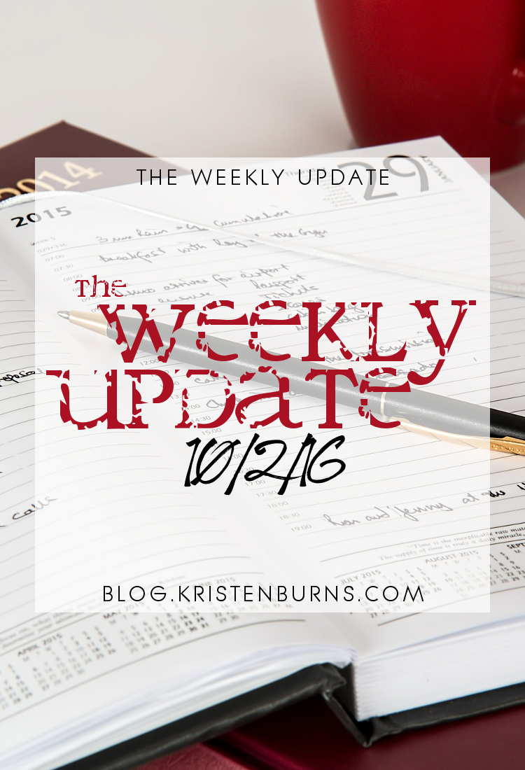 The Weekly Update: 10-2-16 | reading, books
