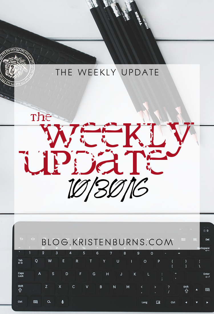 The Weekly Update: 10/30/16 | reading, books
