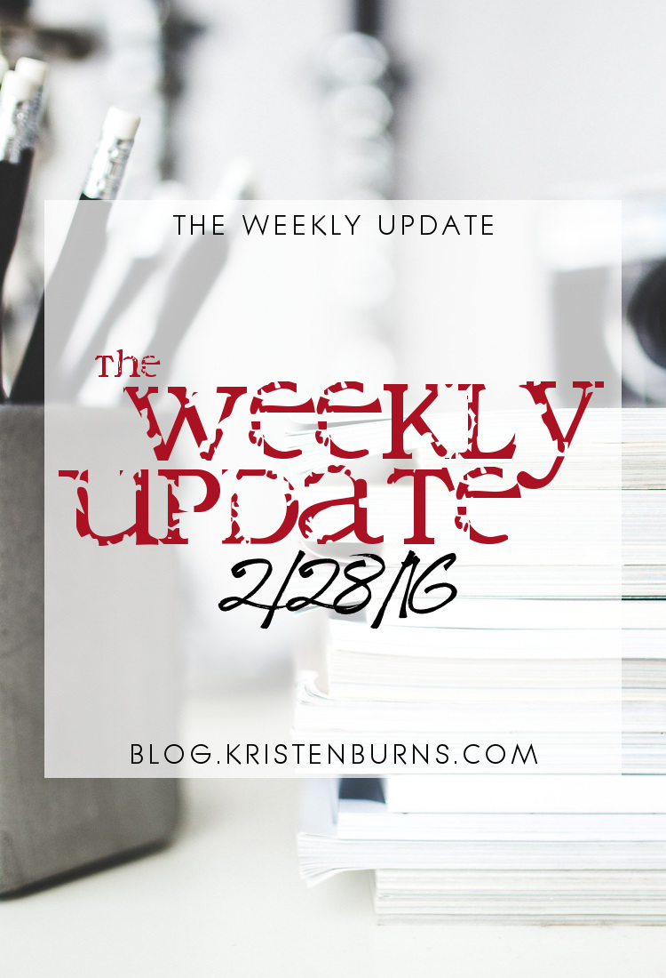 The Weekly Update: 2-28-16 | books, reading
