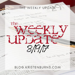 The Weekly Update: 3/19/17 + A Personal Note about Chronic Illness