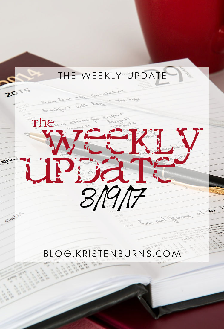 The Weekly Update: 3-19-17