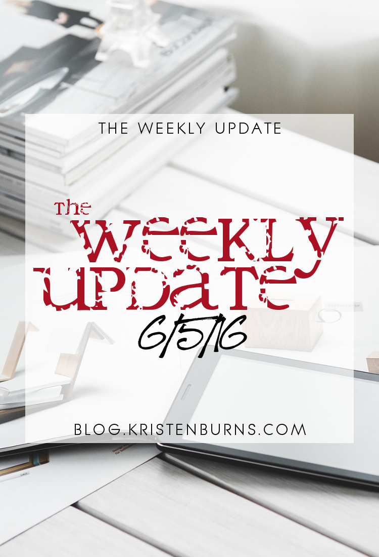 The Weekly Update: 6-5-16   reading, books, blogging