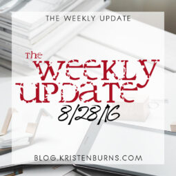 The Weekly Update: 8/28/16