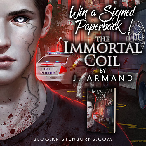 Win a signed paperback of the urban fantasy book The Immortal Coil by J. Armand! #giveaway
